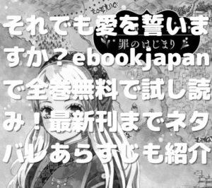 それでも愛を誓いますか?ebookjapanで全巻無料で試し読み!最新刊までネタバレあらすじも紹介